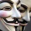 Les Anonymous taguent la façade d'Hadopi à Paris