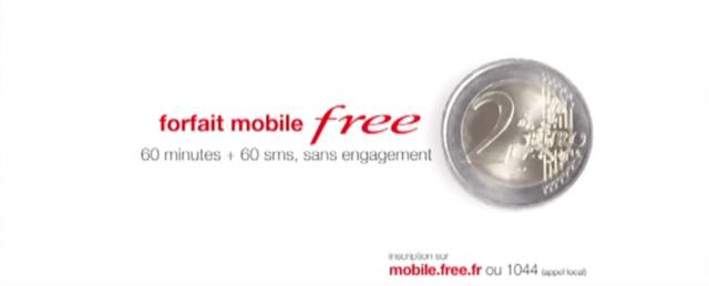 Free Mobile : Spot télé pour le forfait à 2 euros