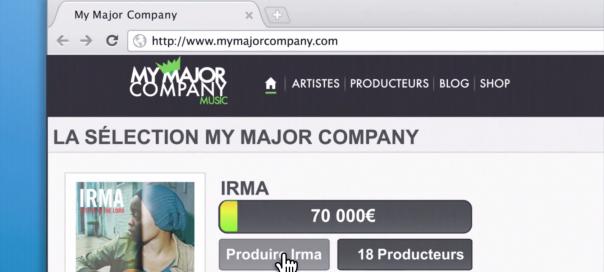 Google Chrome : La chanteuse Irma dans une pub sur TF1