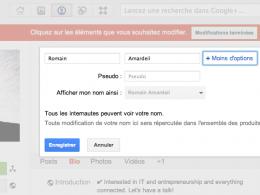 Google + pseudo