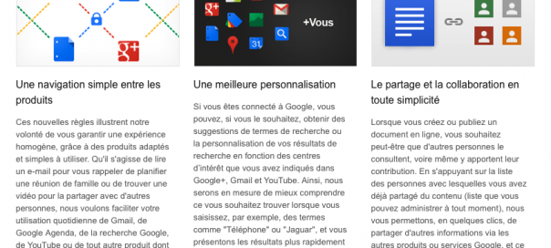 Google : Règles de confidentialité unifiées pour une expérience unique