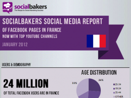 Statistiques Page Fans Facebook France Janvier 2012