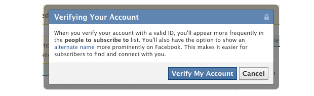Vérification compte Facebook