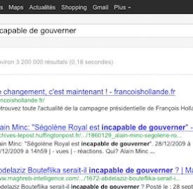 François Hollande : Google Bombing «Incapable de gouverner»