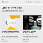 Geekeries : Newsletter WordPress