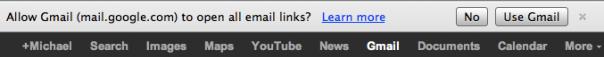 Support des liens mailto pour Gmail