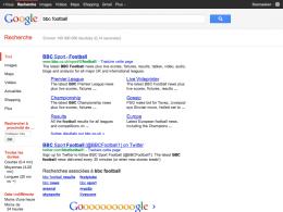 Google : Deux résultats