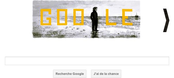 Google : Le réalisateur François Truffaut en doodle