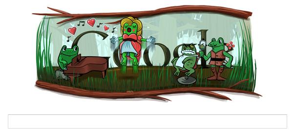 Google : Doodle Gioachino Rossini et grenouilles pour l'année bissextile