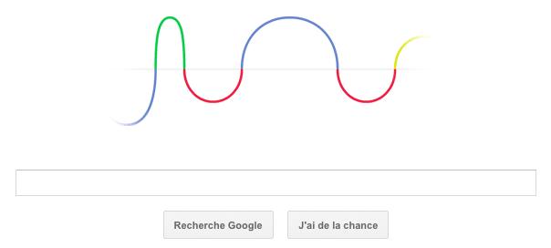 Google : Les ondes radio de Heinrich Hertz en doodle