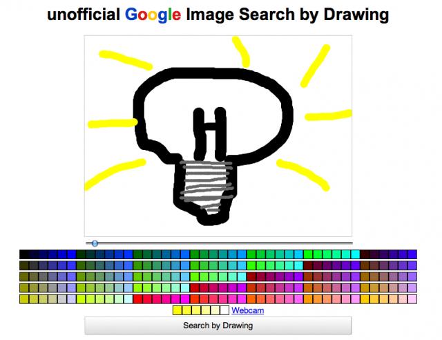 Recherche Google Images par dessin