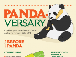 Google Panda : Premier anniversaire