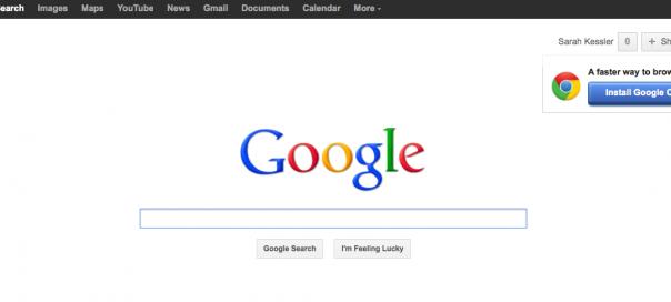 Google : Ajout d'un encart de partage Google+ sur l'interface