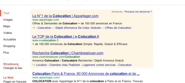 Google : Flèche grise devant les sitelinks inline dans les SERPS