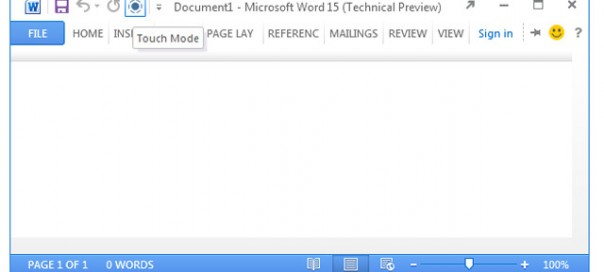 Microsoft Office 15 s'offre un mode «Touch»