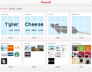 Pinterest : Présentation de CV via les boards et pins