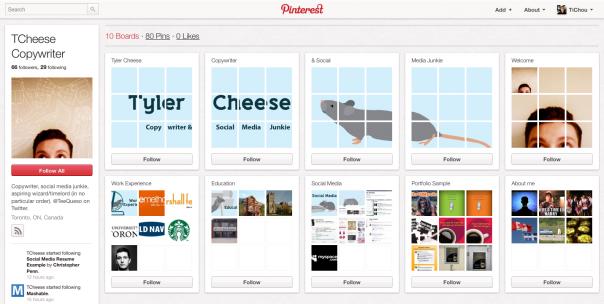 Curriculum vitae Pinterest