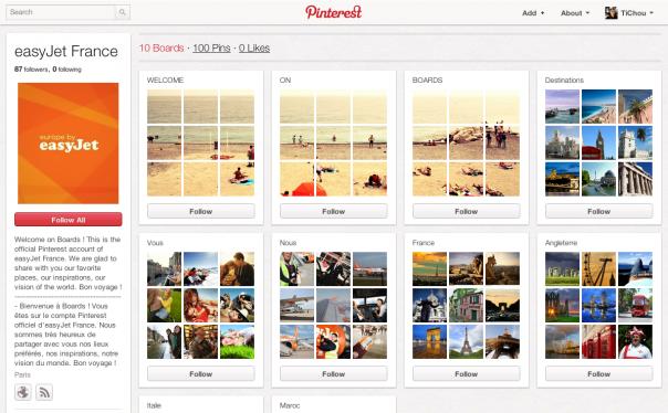Pinterest : EasyJet France