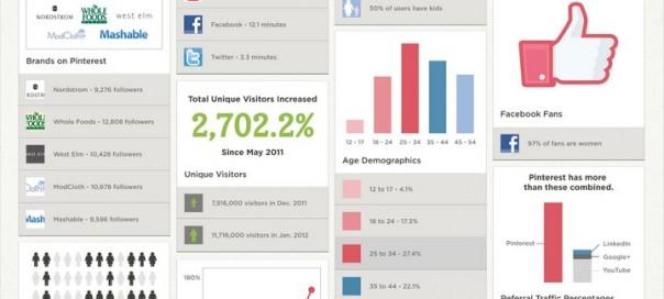 Quelques statistiques sur Pinterest