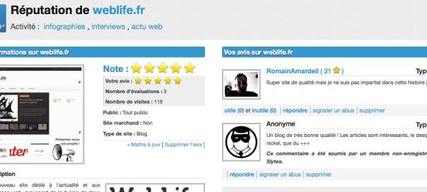 Slytee, moteur de recherche de réputation de site