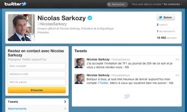 Twitter : Nicolas Sarkozy