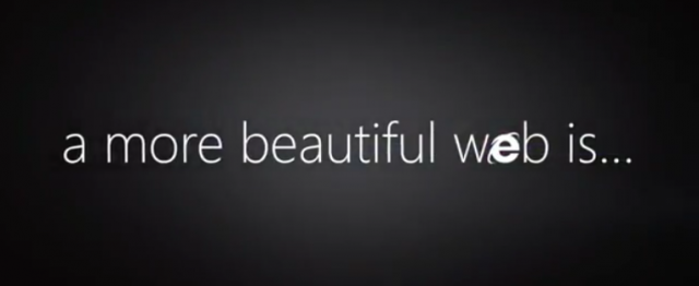 Publicité IE9 : A more beautiful web is...