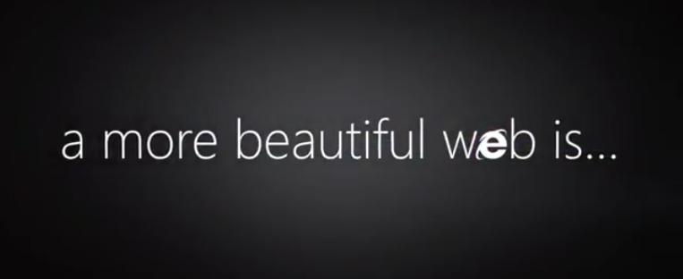Publicité IE9 : A more beautiful web is...