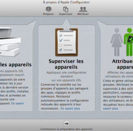 Apple Configurator : Administrer facilement vos iEquipements