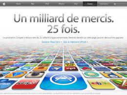 Message remerciement Apple