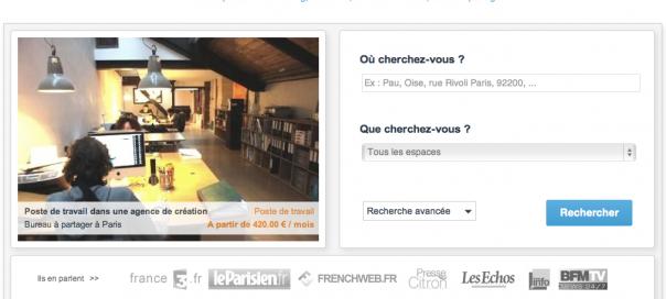 eWorky, un moteur de recherche pour trouver son espace de coworking