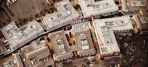 Facebook : Un QR Code caché sur le toit de ses locaux