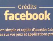 Facebook : Crédits sous forme de cartes cadeaux prépayées