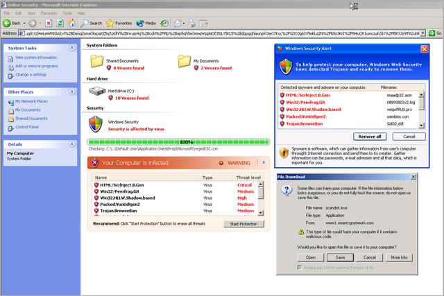 Site de téléchargement du malware