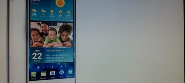 Samsung Galaxy S III : La première photo ?