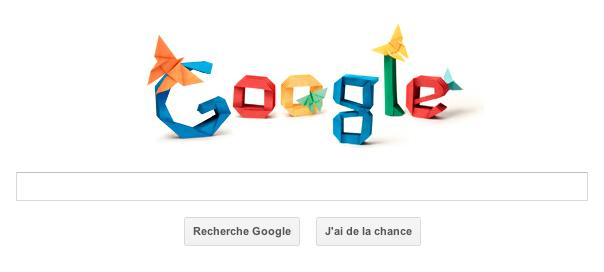 Google : Akira Yoshizawa et l'origami en doodle