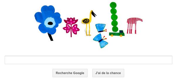 Google : L'équinoxe de printemps en doodle
