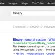 Google : Easter egg binaire, octal & hexadécimal