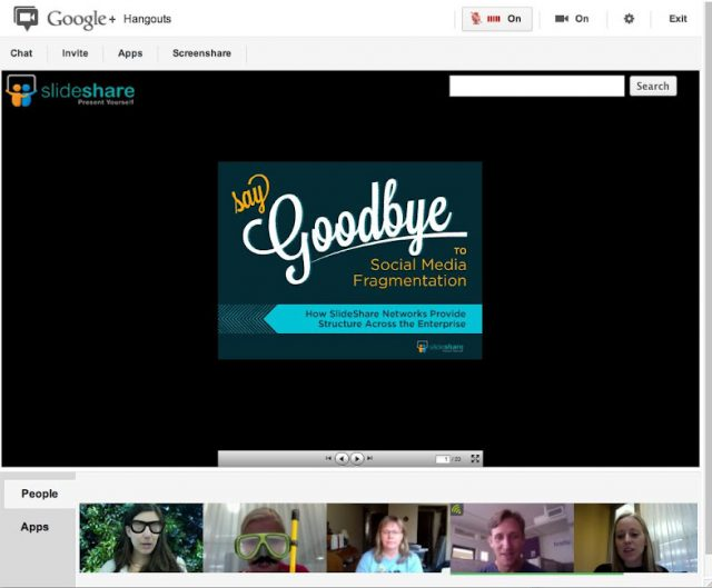 Google Hangout : Applications