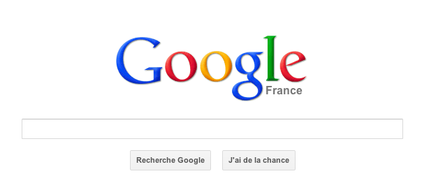 Google : Page d'accueil du moteur de recherche