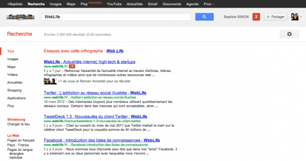 Google Play & Bouton Google+1