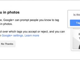 Google+ : Reconnaissance faciale Find My Face