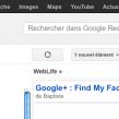 Google Reader : Interface utilisateur unique en déploiement