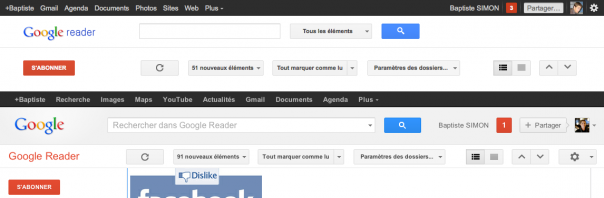 Google Reader : Refresh de l'interface utilisateur