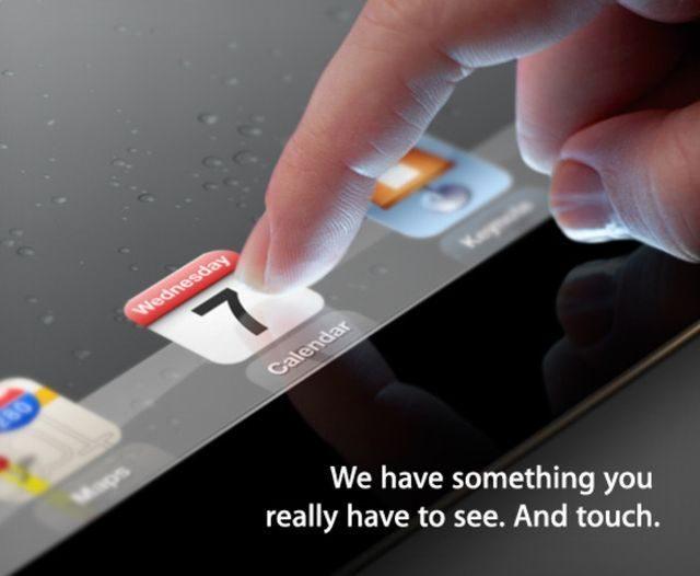 Invitation Apple pour l'annonce de l'iPad HD