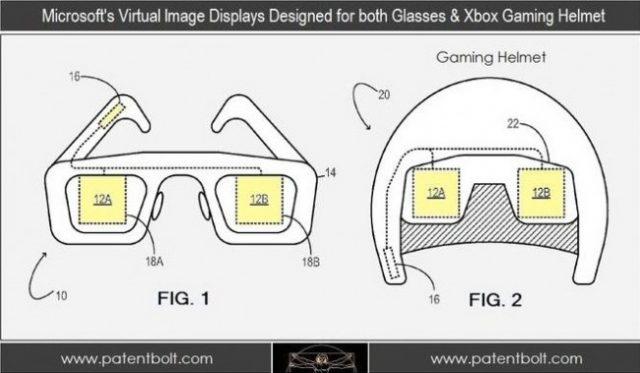 Brevet : Un casque de jeu avec lunettes 3D pour Xbox