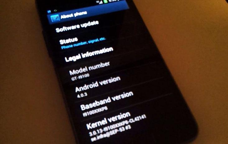 Samsung Galaxy S II : Android 4