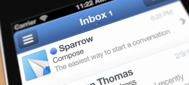 Sparrow for iPhone : Application mobile du client mail