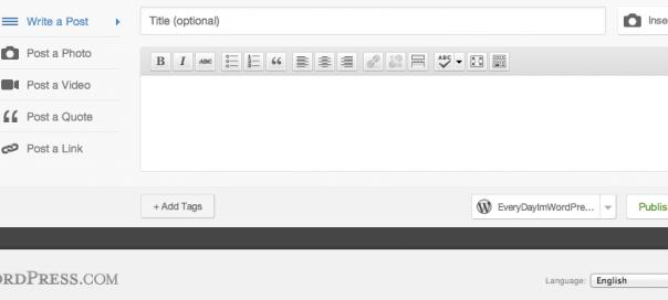 WordPress.com : Rédaction rapide d'articles depuis le blog