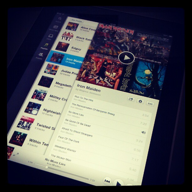 Spotify : Application iPad