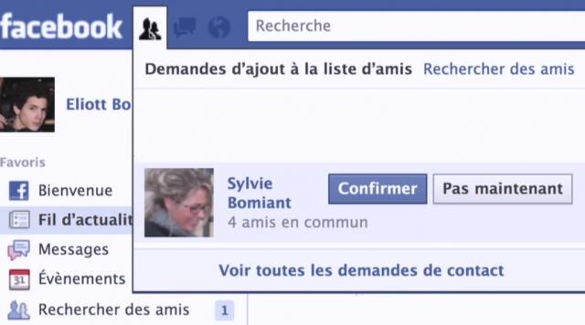 Facebook : Demande d'amis maman